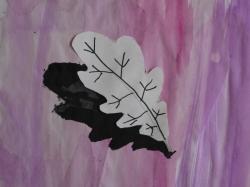 Herbstblatt mit Schatten_1