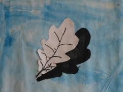 Herbstblatt mit Schatten_3