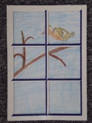 Kl. 1/2 - Vögel am Fenster