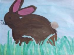 Der Osterhase im Gras_1