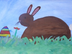 Der Osterhase im Gras_3