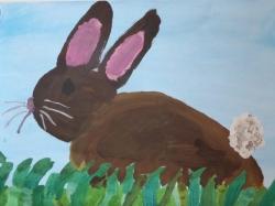 Der Osterhase im Gras_4