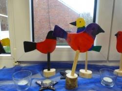 Vögel aus Holz