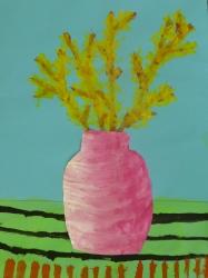 Forsythia in der Vase
